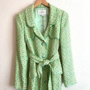 Banana republic green and cream coat Sz M